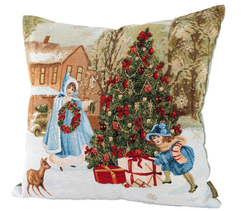 2018 Новогодние гобелены: календари, скатерти, салфетки, подушки и подарки